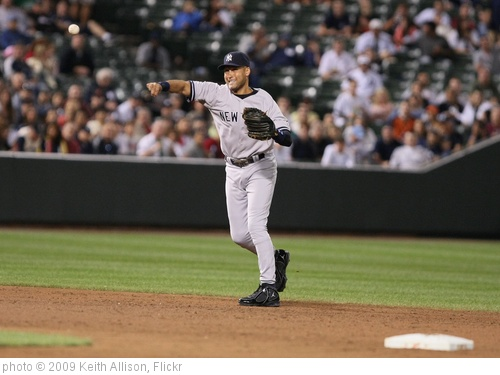 'Derek Jeter' photo (c) 2009, Keith Allison - license: http://creativecommons.org/licenses/by-sa/2.0/