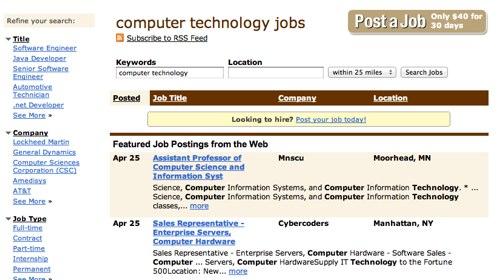 Tech jobs