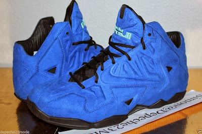 nike lebron 11 nsw sportswear ext blue suede 3 01 Nike LeBron XI EXT Blue Suede Sample   Up Close & Personal