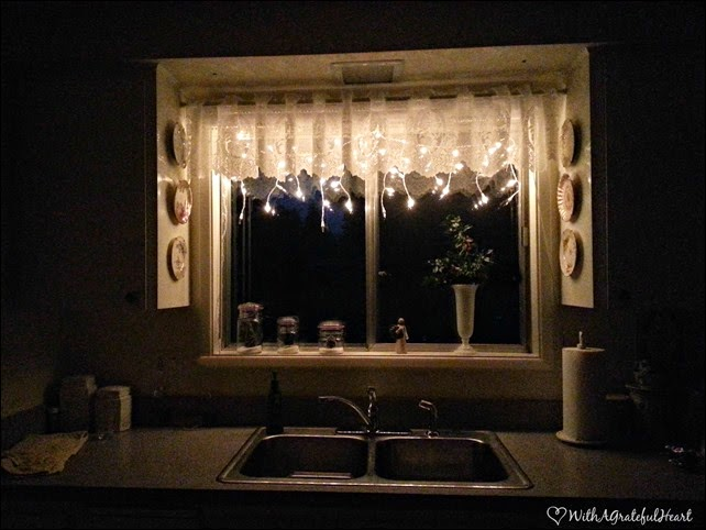 Kitchen Window At Night
