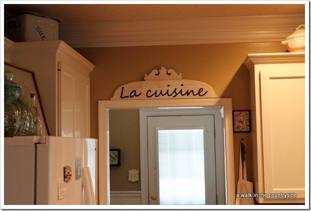 la cuisine - the kitchen in French sign