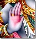 Shri Rama's hand