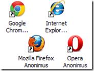 Creare icona per avviare la navigazione anonima con Chrome, Internet Explorer, Firefox e Opera