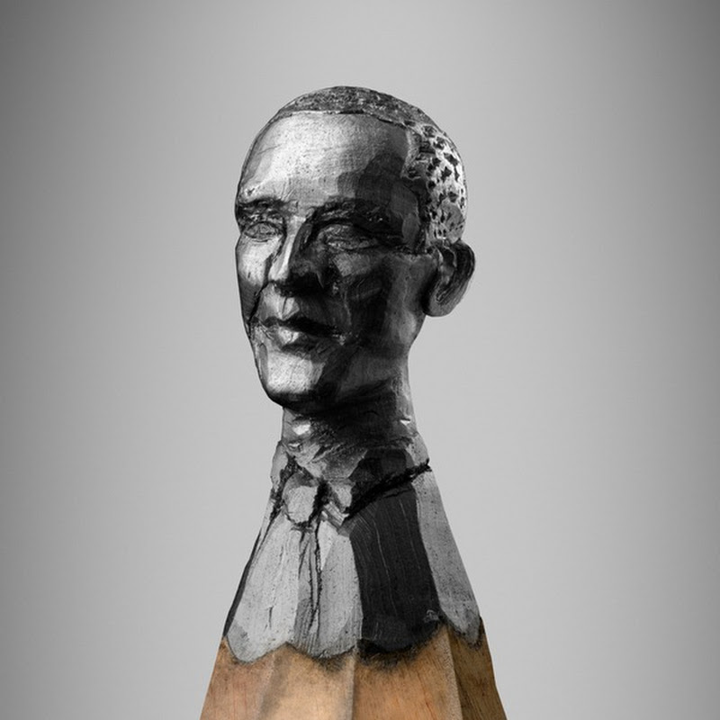 Delicate Graphite Busts on Pencil Head