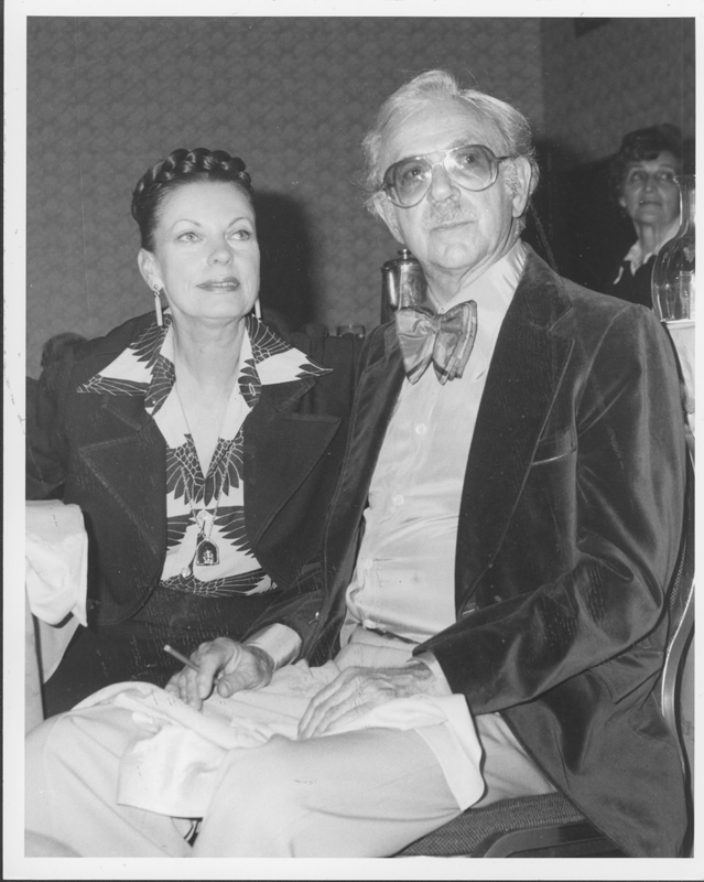 Wallace Albertson, California Democratic Council President, 1975-1981 and her husband, award-winning actor Jack Albertson, at the ACLU dinner honoring Willie Brown at the Los Angeles Hilton. May 07, 1977.