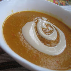Red Lentil Stew With Yogurt Sauce