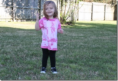 Zoey in Pink Tie Dyed Shirt4