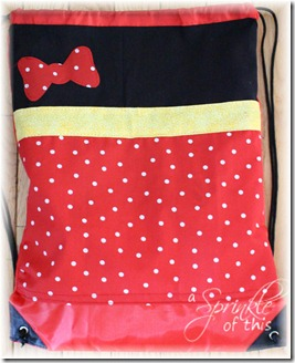 Minnie String Backback {A Sprinkle of This . . . . A Dash of That}