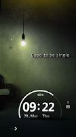Screenshot of Lonely Night Live Lock Theme