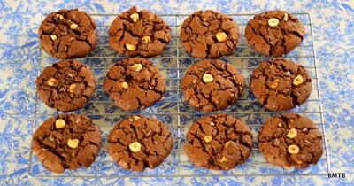 Choc Hazelnut Cookies 1