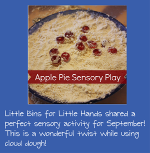 September Sensory Activity - Apple Pie Cloud Dough
