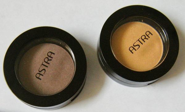 Ombretti mono Astra My Eyeshadow n. 12 Aurum e n. 15 Brunneae