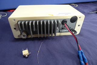 Radio, chassis socket and resistor