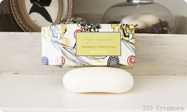 shugar soapworks oatmeal verbena soap