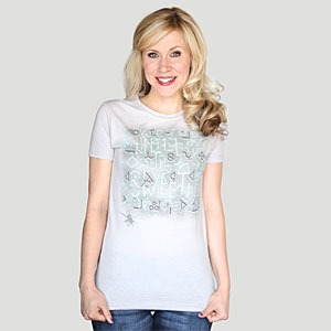Hello Sweetie Glow in the Dark T-Shirt (light) via ThinkGeek