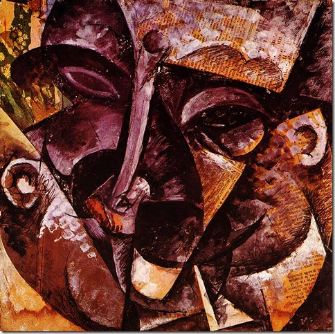 Umberto Boccioni_Dinamismo di una testa d'uomo (1914)