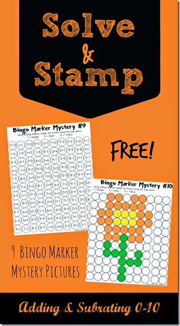 FREE!  Solve and Stamp Math Worksheets are such a fun way for kids to practice adding and subtracting. Great for Kindergarten, 1st grade, 2nd grade, 3rd grade, and 4th grade homeschool students.