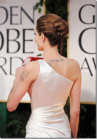 Angelina Jolie espalda