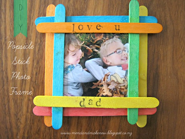 Popsicle Stick photo frame