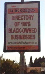 Blacks-only companies advertise the fact that they refuse to hire any Afrikaners quite openly