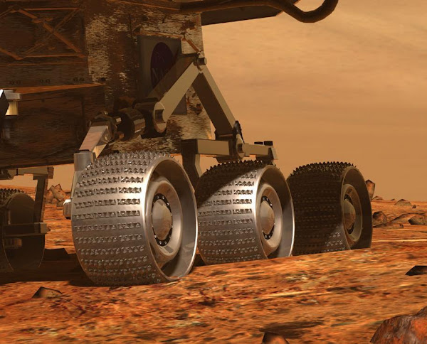 The Mars NASA Rover Rocker Bogie Suspension