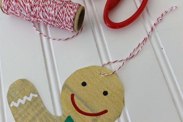 homemade ornament with twine