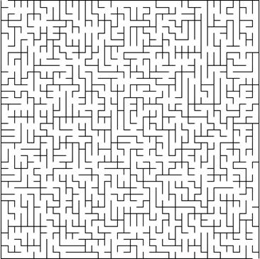 Labirinto 40x40x9 de baixa sinuosidade [www.xefer.com/maze-generator]