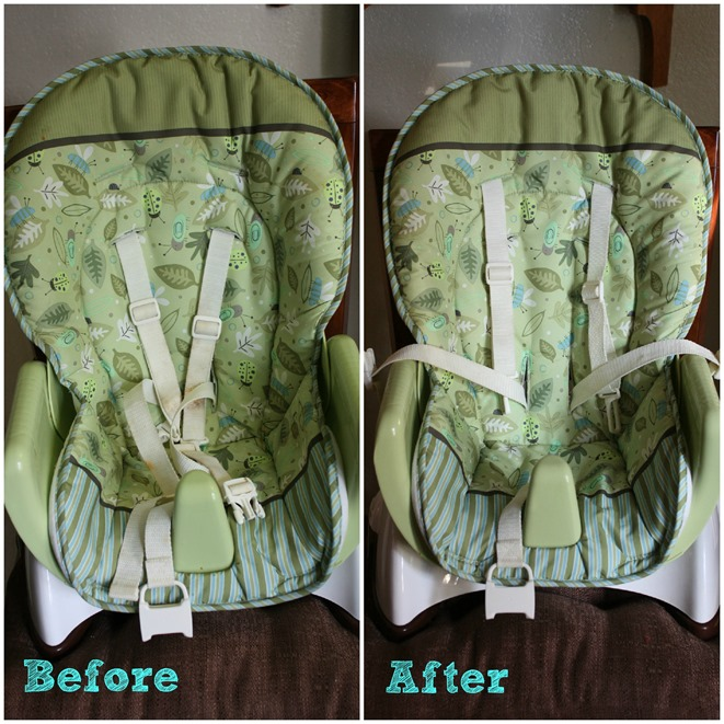 High Chair before after