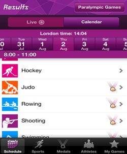 app iPhone-jocurile olimpice 2012