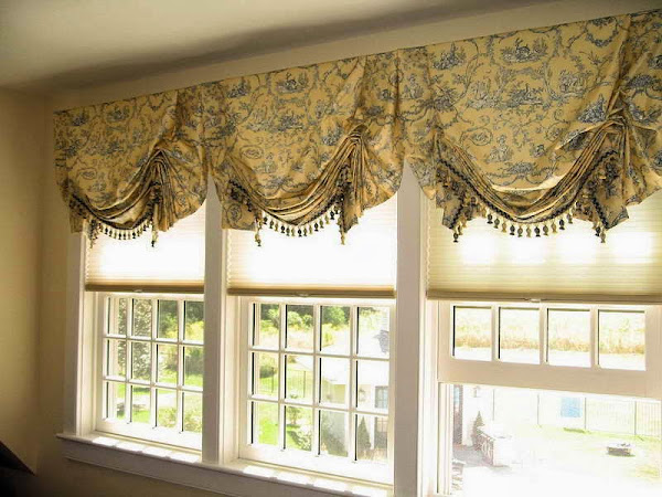 Custom Window Valance Ideas With Unique Motif Window Valance Ideas