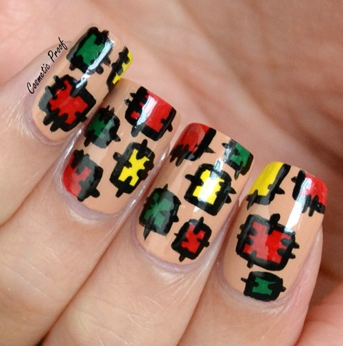Prettyfulz Fall Nail Art Design 2011: Getting Ready For Fall With Patchwork Nails