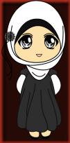 Doodle Muslimah Comel Warna silver
