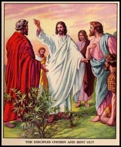Jesus envia os discipulos