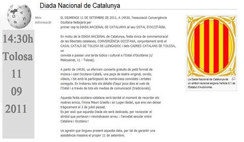 Diada Nacional de Catalunya Tolosa