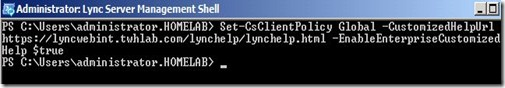 Lync How To - Customized URL