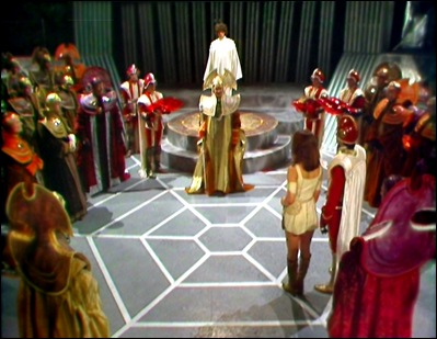 The Panopticon in 'The Invasion of Time', as the Doctor is inaugurated as President of Gallifrey.