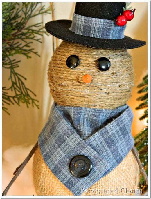 burlap & twine snowmen42
