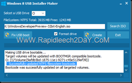 steps-Windows 8 USB Installer Maker - figure 7