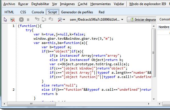 Javascript formateado