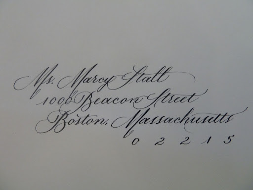 Cynthia sent along a calligraphed envelope by Adrienne Keats (adriennekeats.com).