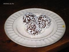truffes noix de coco Dattes