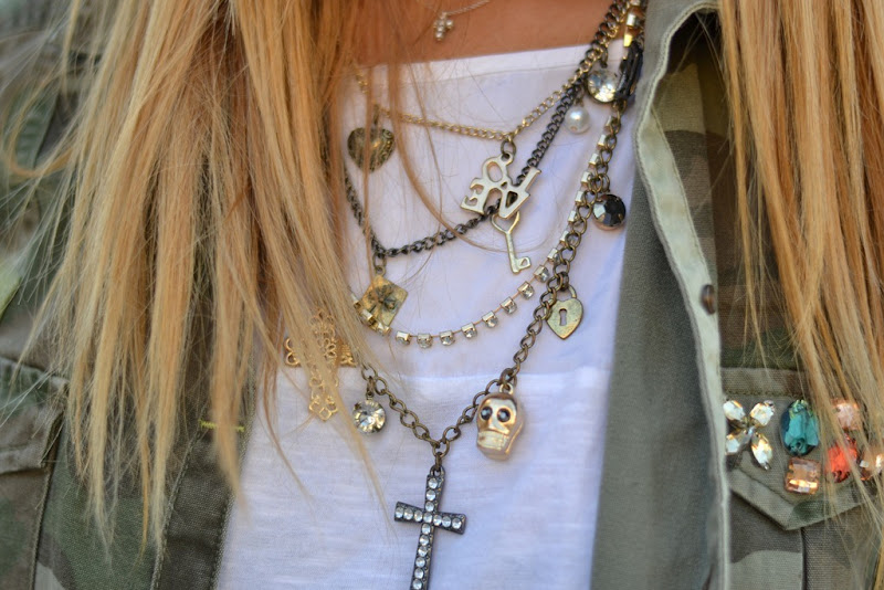 Fashion, Fashion Details, Zara, Primark, Primark Necklace, Cross and Skulls, White T-shirt