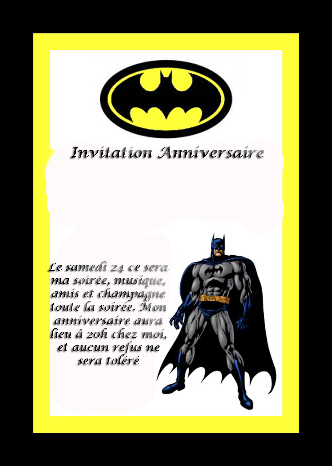 carte d 39 anniversaire batman lisaoycwilson blog. Black Bedroom Furniture Sets. Home Design Ideas