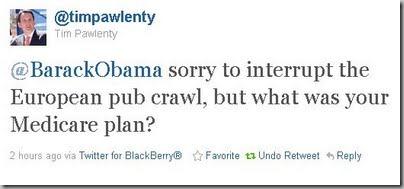Pawlenty tweet