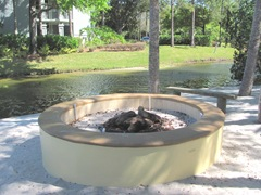 Florida Marriott outdoor firepit