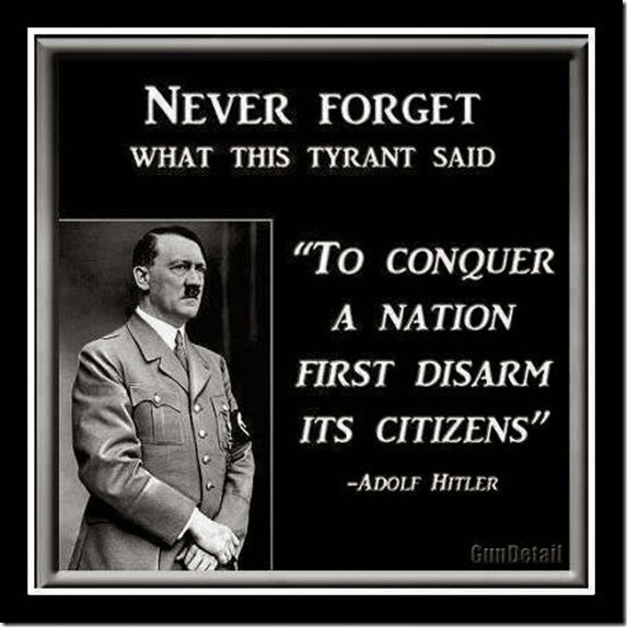 Dictators Always First Disarm the People