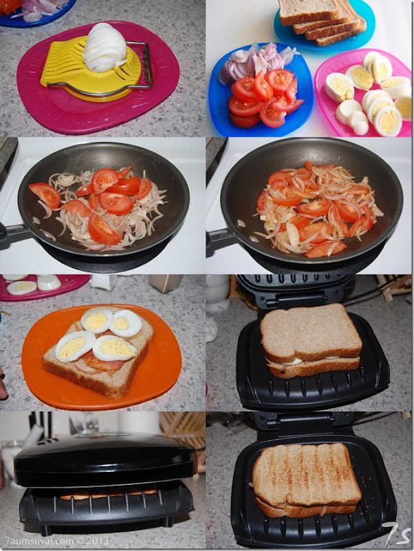 Egg sandwich process