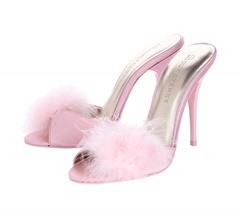 Powder Pink Fluffy Stiletto