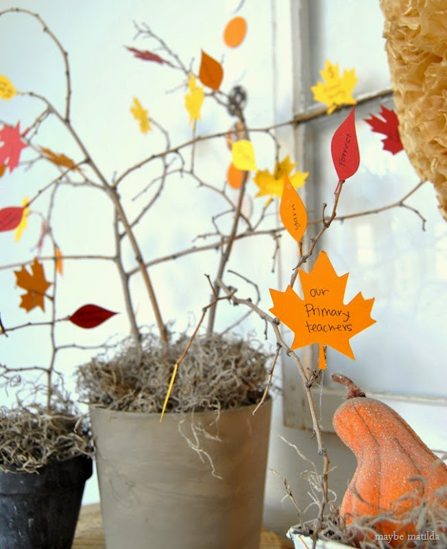 DIY Thankful Tree // www.maybematilda.com