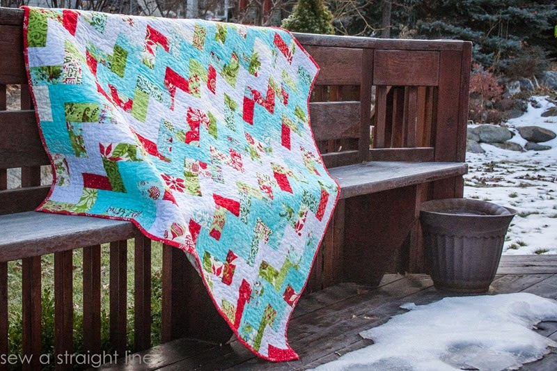 moda 12 days of Christmas quilt step in time sew a straight line-4